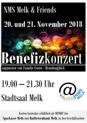 Benefizkonzert am 20.und 21. November